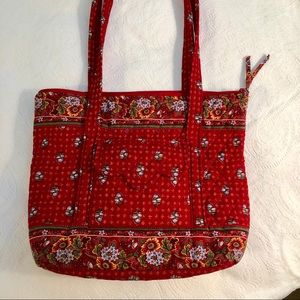 Vera Bradley RETIRED Provencial Red large tote.
